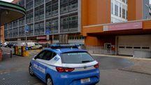 La polizia al Sant'Orsola