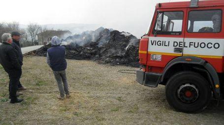 L'incendio a Montappone