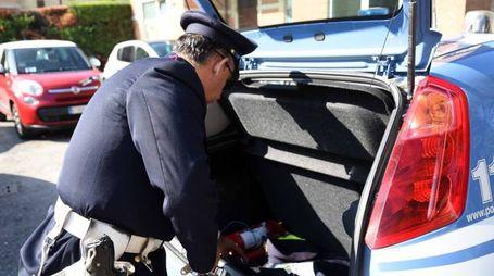 Sul posto la polizia (foto Businesspress)