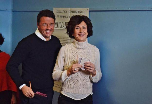 Matteo Renzi con la moglie Agnese (Ansa)