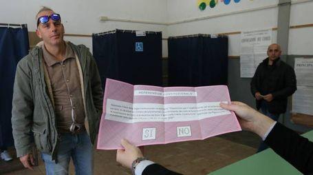 Una scheda elettorale (foto di Valtriani)