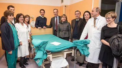 L'inaugurazione in ospedale