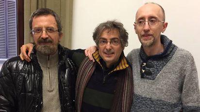 Da sinistra Maurizio Giorgi, Giacomo Del Bino e Luca Rossi