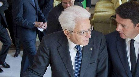 Sergio Mattarella e Matteo Renzi (ImagoE)