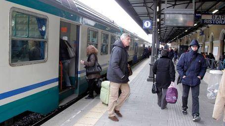 La maggior parte dei passeggeri è scesa poi a Bologna