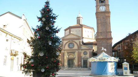 L'albero di Natale in piazza San Magno del 2013