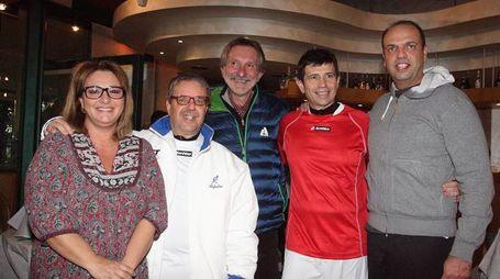 Da sinistra, Chiara Parra, Pierfrancesco Parra, Bellandi, Lupi e Alfano
