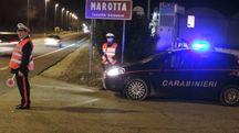 Una pattuglia di carabinieri di Marotta
