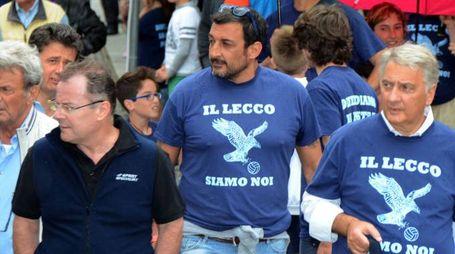 Stefano Gheza con il sindaco Brivio, Battazza e Valsecchi