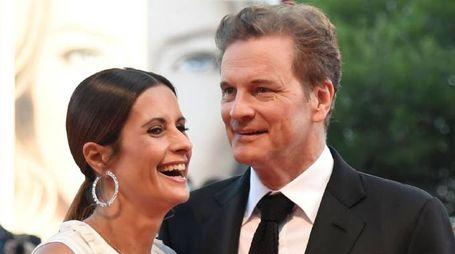Colin Firth con la moglie umbra Livia Giuggioli