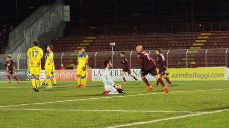 Pontedera-Carrarese 2-2: il gol di Kabashi