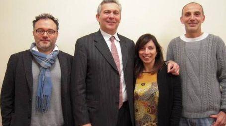 Il nuovo consiglio della Fondazione: da sinistra Simonelli, Melli, Crisalli e Cavazzoni