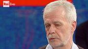 Mauro Cellini, 64 anni, mentre racconta su Rai Tre la sua incredibile disavventura