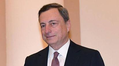 Il presidente Bce Mario Draghi (Ansa)