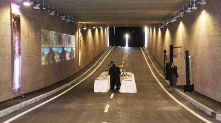 Riapertura del sottopasso in viale Milton (Foto Marco Mori/New Press Photo)