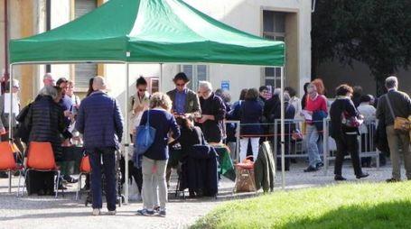 Gazebo e visitatori nell'Area Stalloni