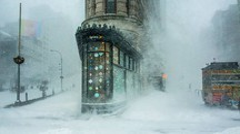 Lo scatto di New York avvolta nella neve (foto  Michele Palazzo)