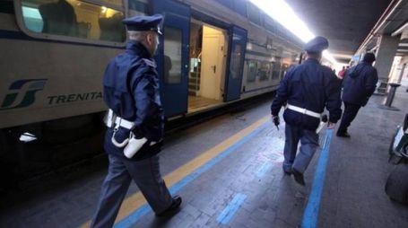 La polizia ferroviaria all'opera