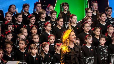 Il Piccolo Coro dell'Antoniano diretto  da Sabrina Simoni