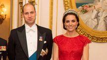 Kate Middleton con la tiara preferita di Lady Diana (Lapresse)