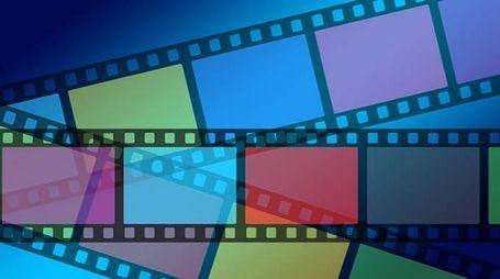 Una pellicola cinematografica per proiettare un film al cinema