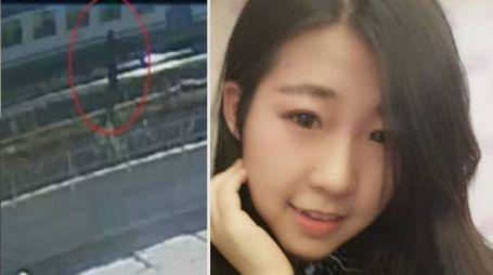 La ragazza cinese ferma sulle rotaie - Zhang Yao Natain (combo)