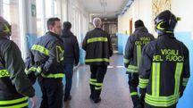 I pompieri nella scuola di Frassinoro