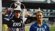 Con Attilio Lombardo, ai tempi della Samp. Era sta gione 1991/92 (fotoSchicchi)