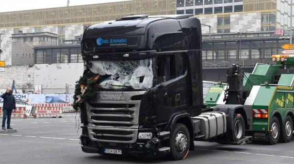 Il tir coinvolto nella strage di Berlino