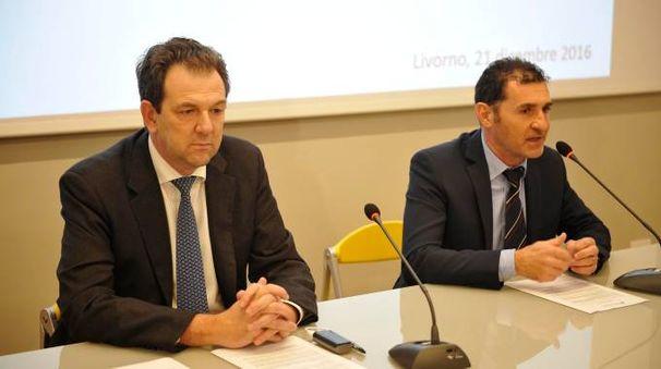 Il direttore Aamps Castelnuovo e il direttore Bcc Castagneto Fabrizio Mannari
