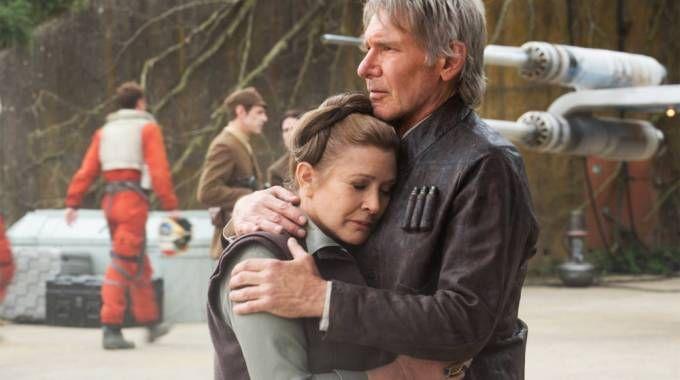 Carrie Fisher e Harrison Ford in una scena del 'Risveglio della Forza' – Foto: Lucasfilm