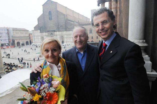 Pascutti, il giorno del suo matrimonio a Palazzo D'Accursio con Emanuela: nozze celebrate da Maurizio Cevenini (Schicchi)