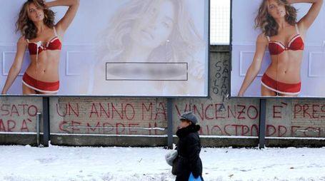 Un'immagine dell'ondata di gelo a Rimini (foto Migliorini)
