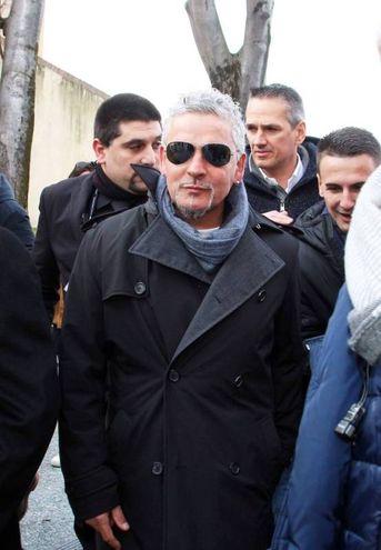Roberto Baggio a Pitti Immagine Uomo (foto Olycom)