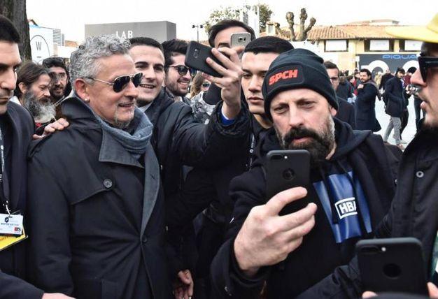 Roberto Baggio a Pitti Immagine Uomo (foto Ansa)