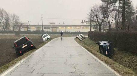 Gelicidio, auto fuori strada a San Giovanni in Persiceto