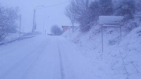 La neve a Fabriano (foto Dimarco Palombi)