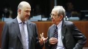 Pierre Moscovici e Carlo Padoan (Ansa)