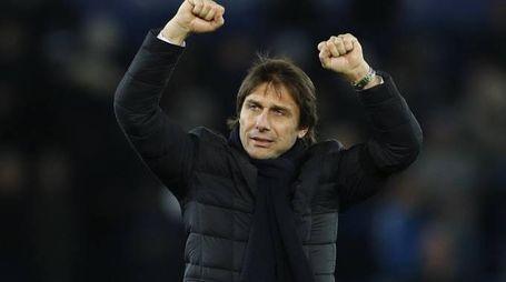 Antonio Conte, allenatore del Chelsea capolista