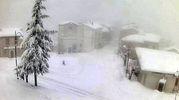 Meteo, la neve caduta a Monteferrante, in provincia di Chieti (Ansa)
