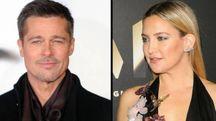 Brad Pitt (Olycom) e Kate Hudson (Afp)