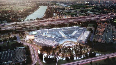 Il rendering del centro commerciale Westfiled