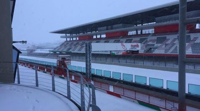 Il Mugello Circuit sotto la neve