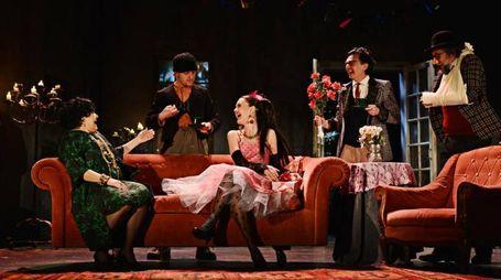 Una scena dello spettacolo Ivanov, diretto da Filippo Dini