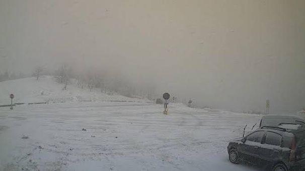 La neve sul passo della Raticosa