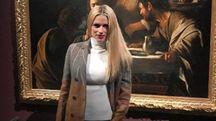 Michelle Hunziker alla Pinacoteca di Brera (Instagram)