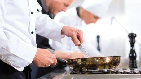 Chef professionisti al lavoro (fonte Ansa)