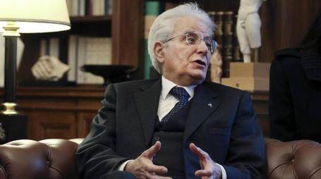 Sergio Mattarella in visita in Grecia (Ansa)