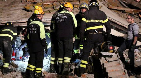 La villetta dopo l'esplosione, avvenuta la sera del 17 novembre scorso