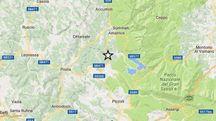Terremoto 18 gennaio 2017, l'epicentro